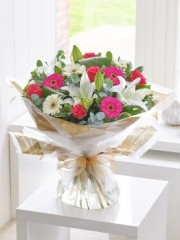 Rose, Lily and Germini Hand-Tied