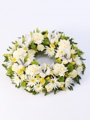 Classic Wreath -Yellow & Cream