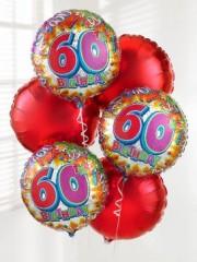 60th Birthday Balloon Bouquet