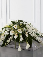 Calla Lily and Orchid Casket Spray